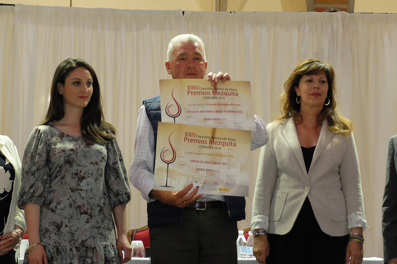 Dos galardones para nuestros vinos en el Concurso Premios Mezquita